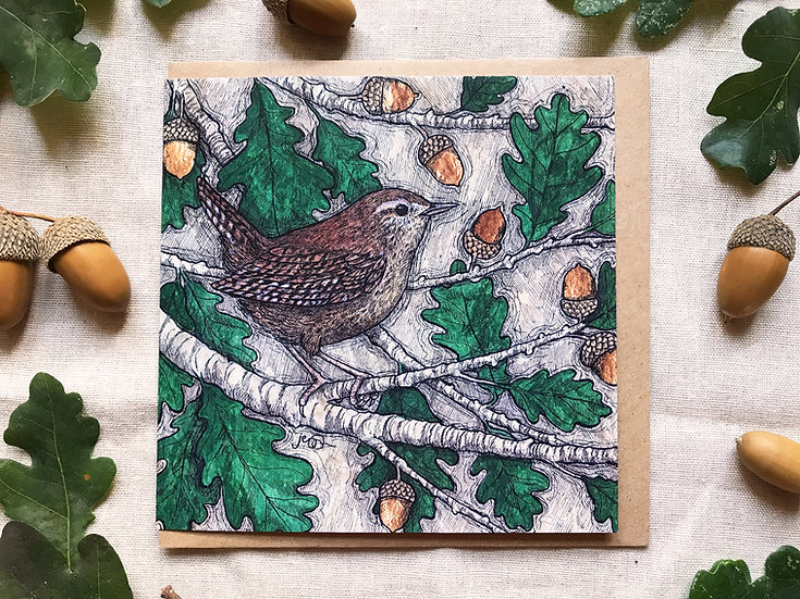 Wren and Oak Card