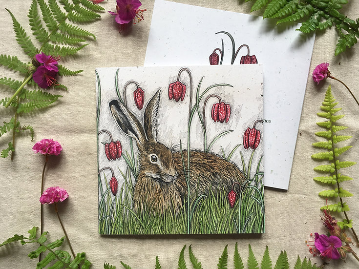 Hare and Fritillaries Notebook