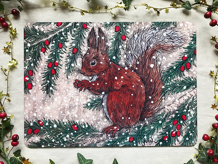 Squirrel and Yew Placemat