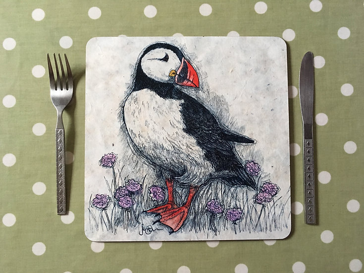 Puffin and Thrift Placemat