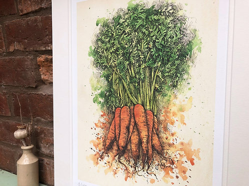 Carrots Limited Edition Print
