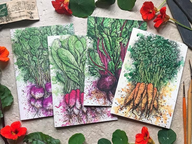 Root Vegetable Notebook Set