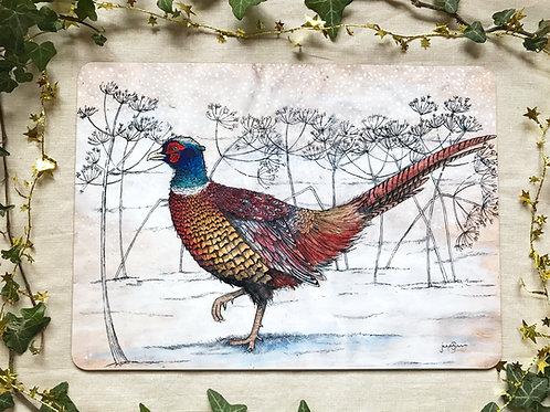 Winter Pheasant Placemat