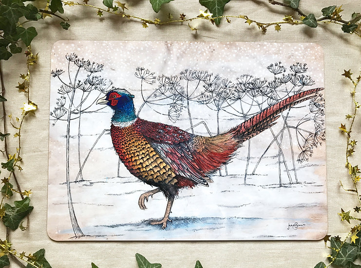 Winter Pheasant Placemat