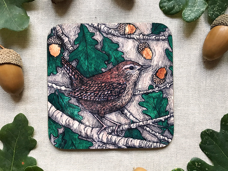 Wren and Oak Coaster
