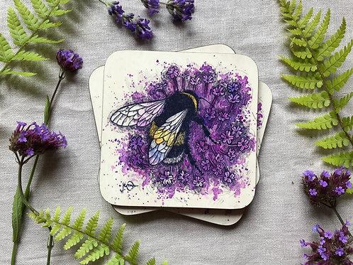 Bumblebee & Verbena Coaster