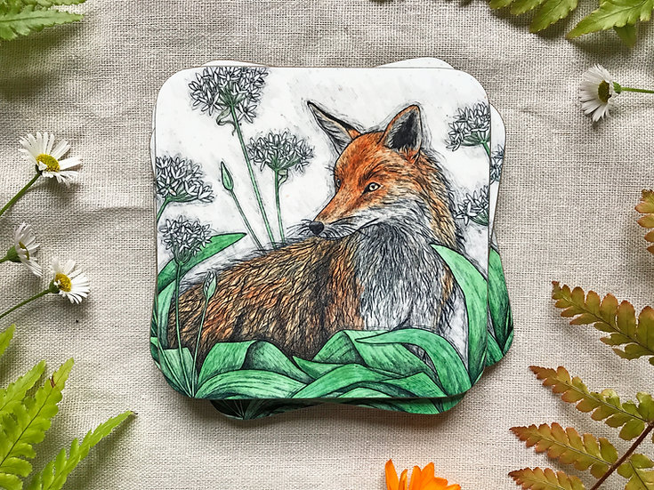 Fox and Ramsons Coaster