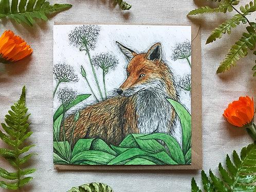 Fox and Ramsons Card