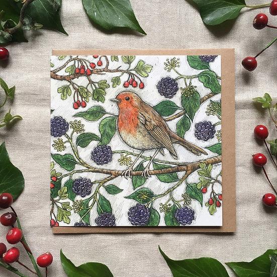Autumn Robin Card