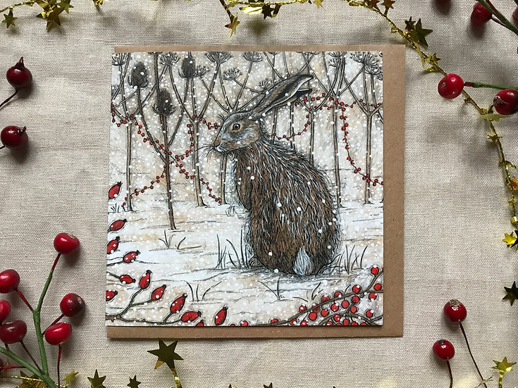 Winter Hedgerow Greetings Cards