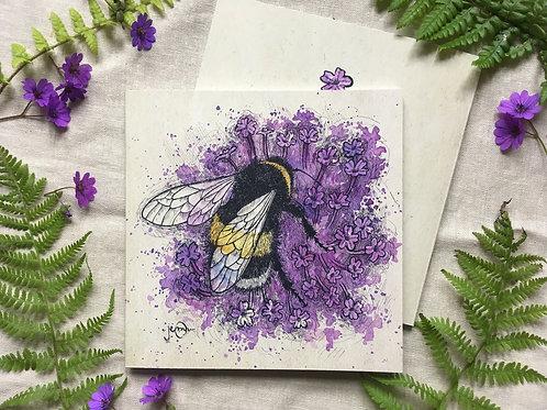 Bumblebee on Verbena Notebook