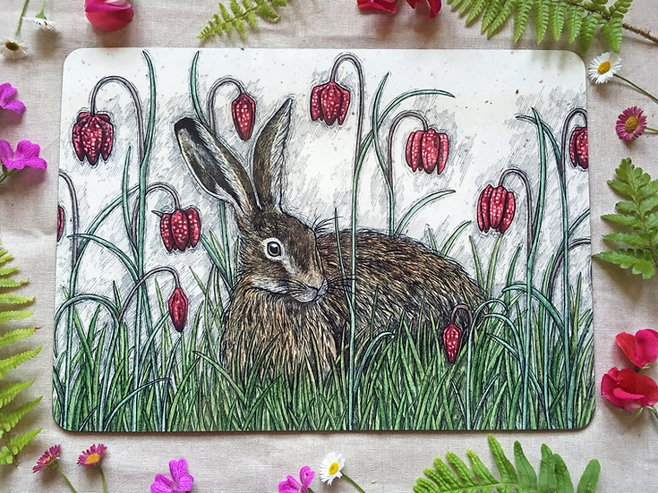 Hare and Snakeshead Fritillaries Placemat