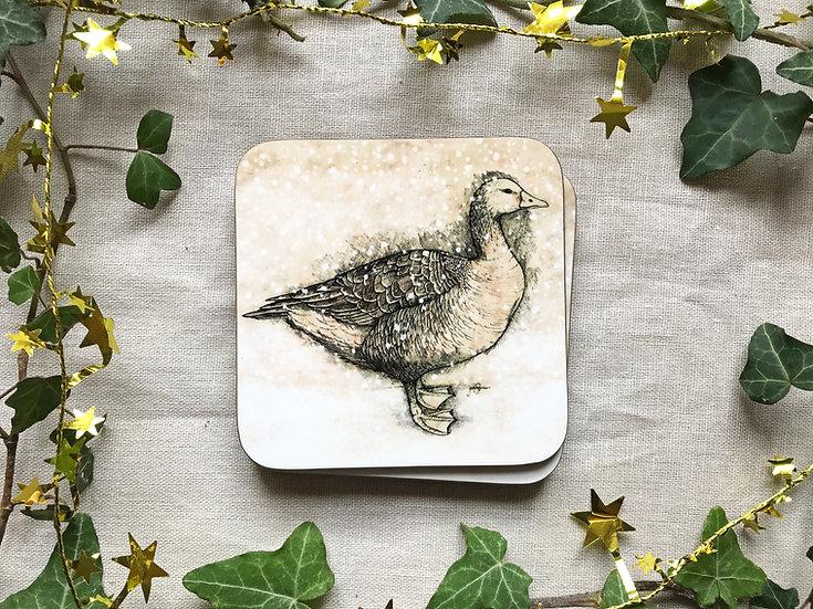 Winter Goose Coaster