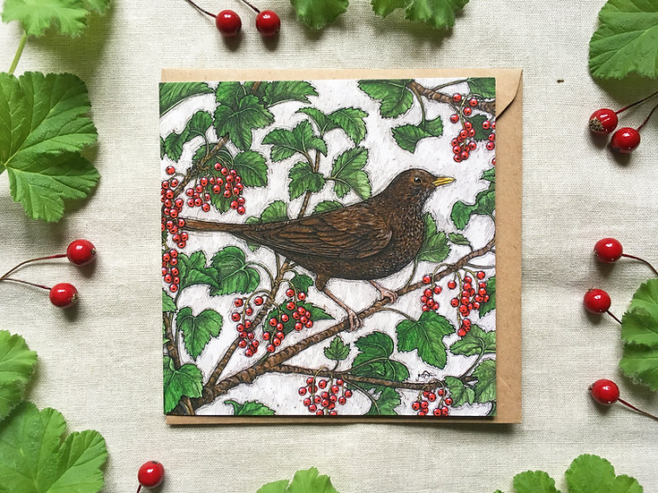 The Redcurrant Thief Card
