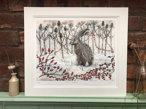 Winter Hedgerow Limited Edition Print