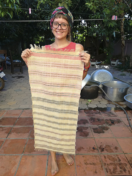 handwoven fabric for the bracelets