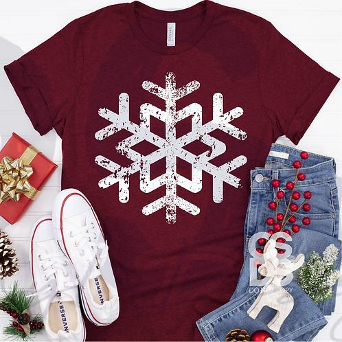 Distressed Large Snowflake