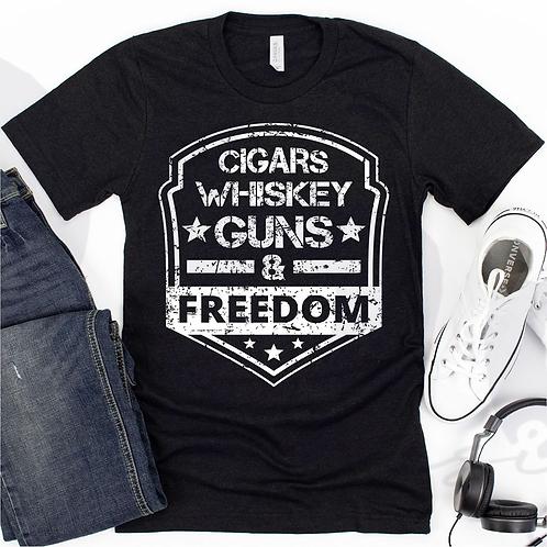Cigar, Whiskey, Guns & Freedom