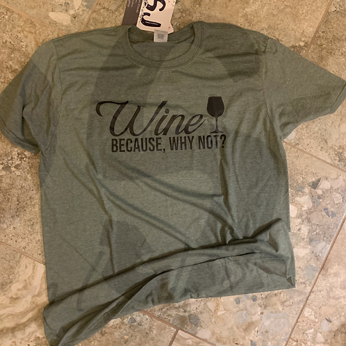 Wine Pre-Made Short Sleeve Tee