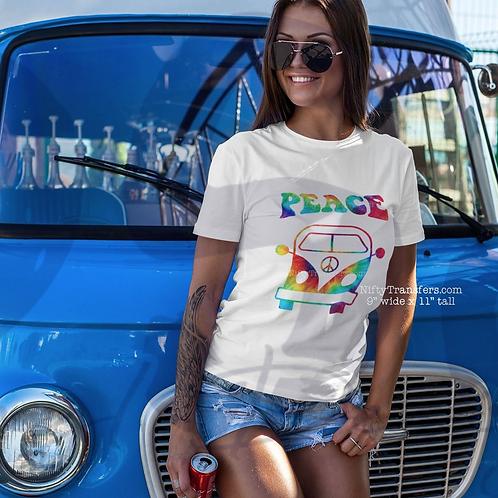 Tie Dye Peace Van