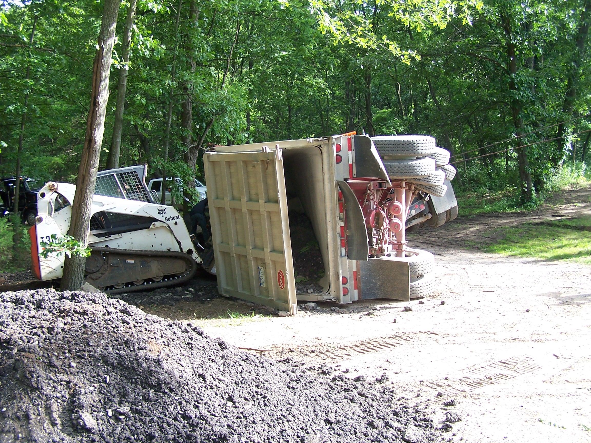 Dump Truck towing