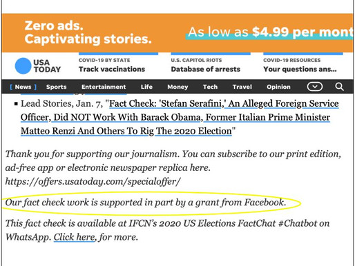 ITN Show Article: Exposes Facebook Funding USA Today Fact-Checking ItalyGate - 2.2.21
