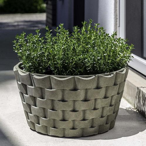 M Weave Low Round Planter