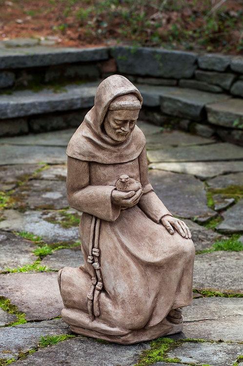 Kneeling St. Francis w/Bird