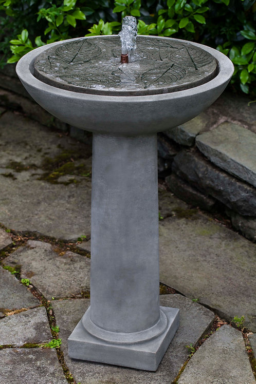 Hydrangea Leaves Birdbath Fountain