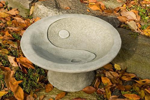 Yin Yang Pedestal Birdbath