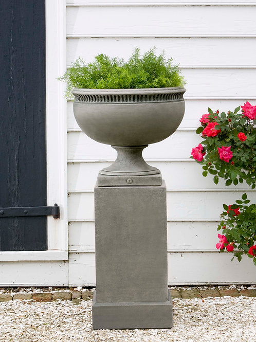 Wburg Tayloe House Urn w/ Classic Tall Pedestal P-459 and PD-170