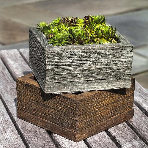 Small Square Barn Board Planter