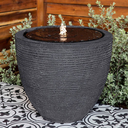 Stone Ledge Fountain - Black Stone Ledge - S/1
