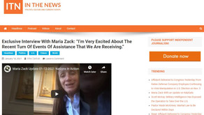 """ITN Show Interview with Maria Zack - 1.18.21: """"I'm very excited about the recent turn of events of"""