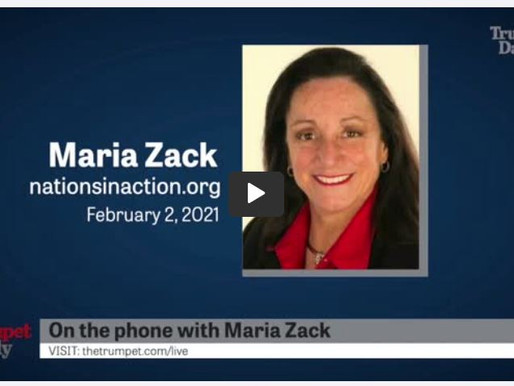 The Trumpet Daily global interview with Maria Zack - 2.2.21:
