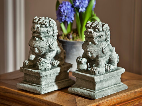 Small Temple Foo Dog Lt and Rt OR-129 and OR-130