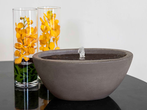 Geo Oval Fountain-Fiber Cement-S/1