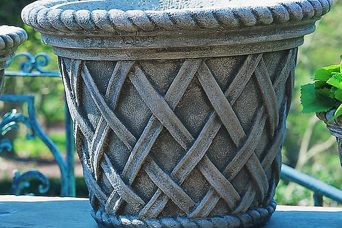 English Weave Large Planter