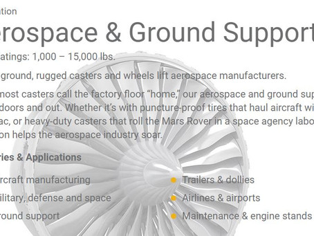 Aerospace and ground support Casters