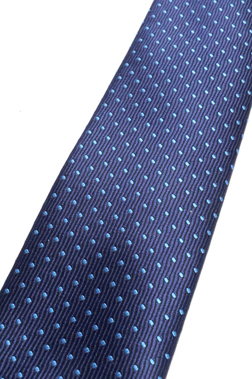 Cobalt Blue Pindot Silk Tie