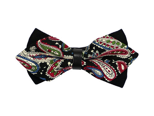 Vintage Paisley Bow Tie in Red
