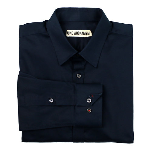 Dark Navy 120s Japanese Cotton Shirt