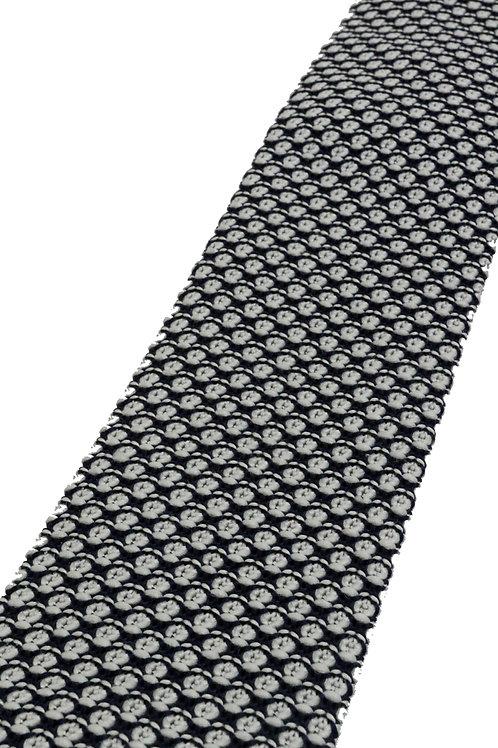 Black Grey Mixed Stitch Knit Tie
