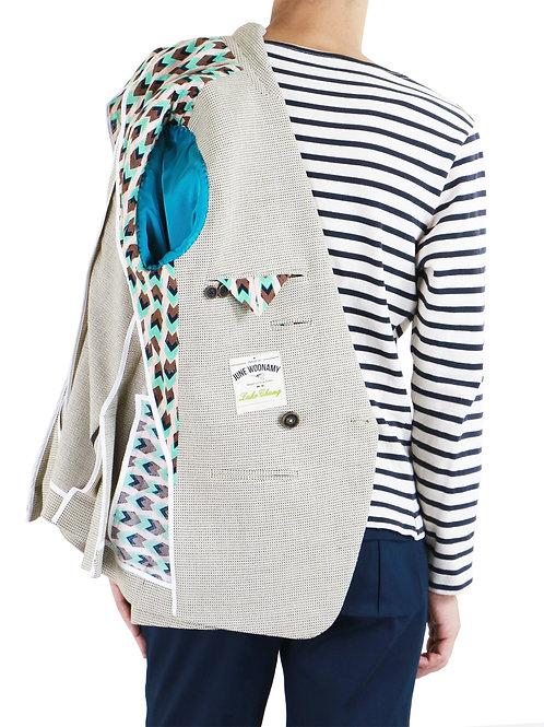 Georgian Green & Plum Birdseye Textured Blazer