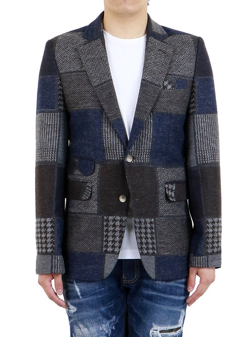 """Wooster"" Inspired Patchwork Casual-Fit Blazer"