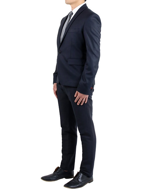 Shawl Lapel Wool Blend Suit