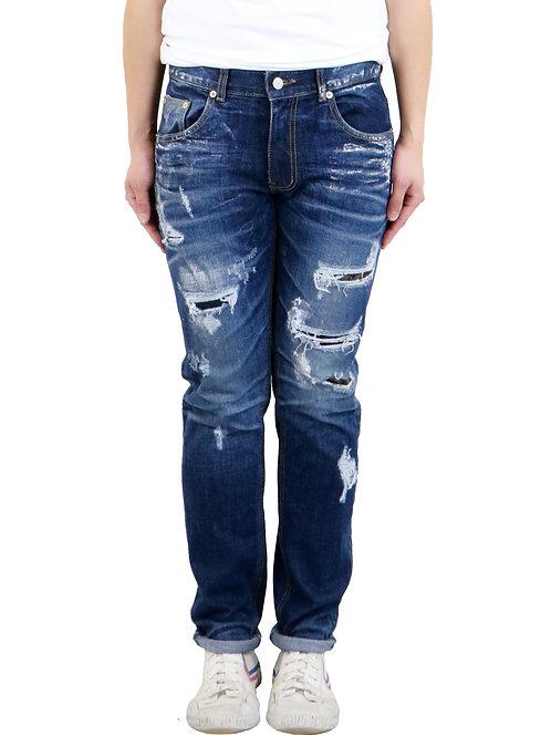 Slim-Fit Enzyme Washed Stretch Denim Jeans
