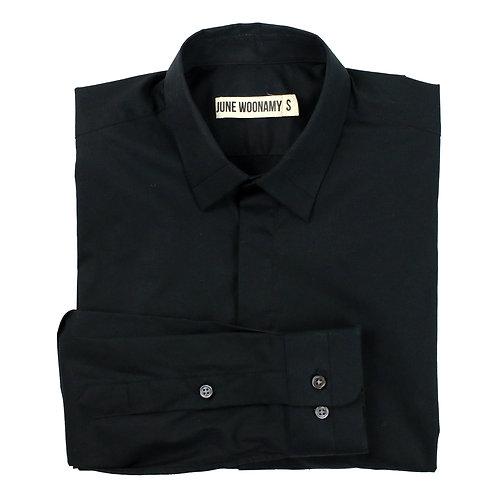 Black Milano Cotton Shirt
