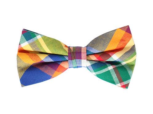 Multi-color Tartan Print Bow Tie