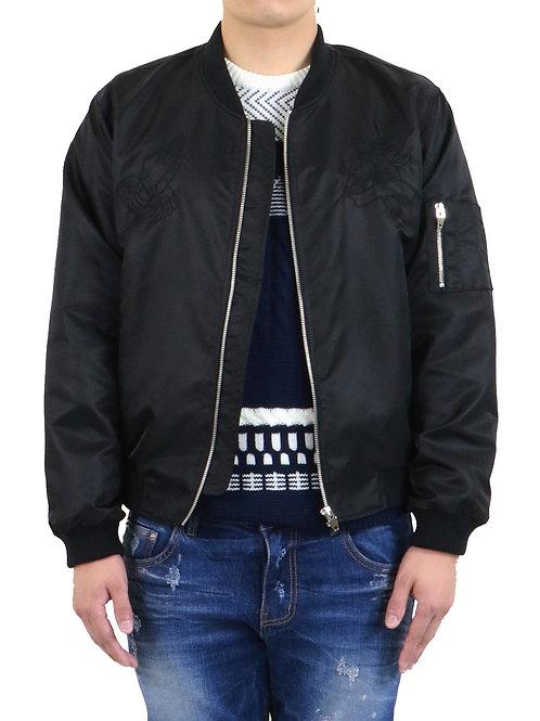 Black Bomber Military Jacket